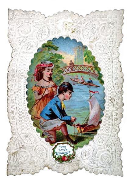 Валентинка с кружевной каймой
