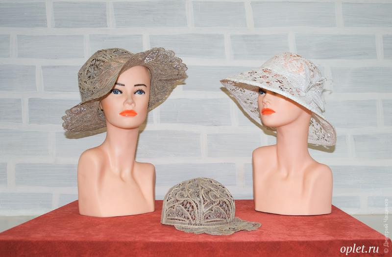 Женские кружевные шляпки